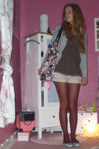 H&M jacket - abercrombie and fitch shirt - hollister shorts - Hudson tights - Pr