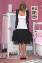 black long cardigan Yesstyle jacket - black Pretty Ballerinas shoes