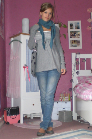 no name scarf - hollister sweater - Levis jeans - applechoice shoes - kids h&m a