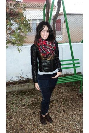 pull&bear scarf - Lefties jeans - pull&bear jacket