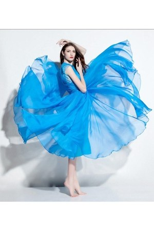 sky blue silk NextEve dress