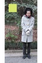 vintage coat - Levis pants - Muji shoes - Hanjiro scarf