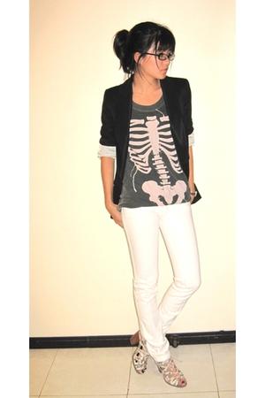 Zara blazer - Zara - Frankie B jeans - Aldo shoes