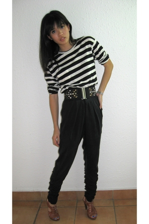Zara t-shirt - Topshop pants - H&amp;M belt - PedderRed shoes