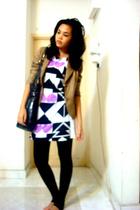 dress - blazer - - purse