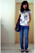 top - purse - Dorothy Perkins jeans - shoes