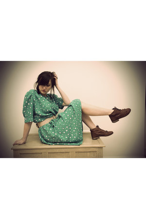 vintage dress - Topshop shoes