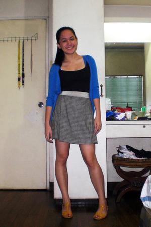 Zara vest - Topshop top - Zara top - Esprit skirt - belt - tiangge shoes