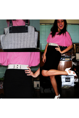 pink G&Q top - silver belt - black All That Jazz skirt - white shoes - black Ral