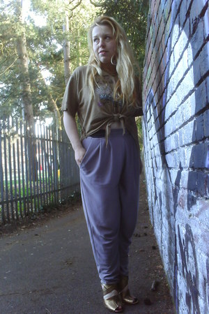 asos boots - Jack and Johnson t-shirt - harem River Island pants