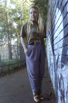 asos boots - Jack and Johnson t-shirt - harem River Island pants