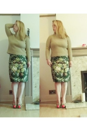 floral print Bohemia Dress skirt - wool Max Mara jumper