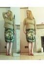 Wool-max-mara-jumper-floral-print-bohemia-dress-skirt