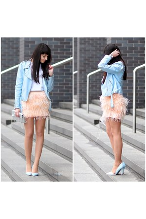 light pink Bershka skirt