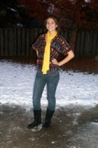 vintage from Ebay shirt - Nordstrom scarf - a&f jeans - Gap boots