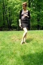 H&M skirt - Old Navy top - Forever21 sweater - vintage belt - aerosoles shoes