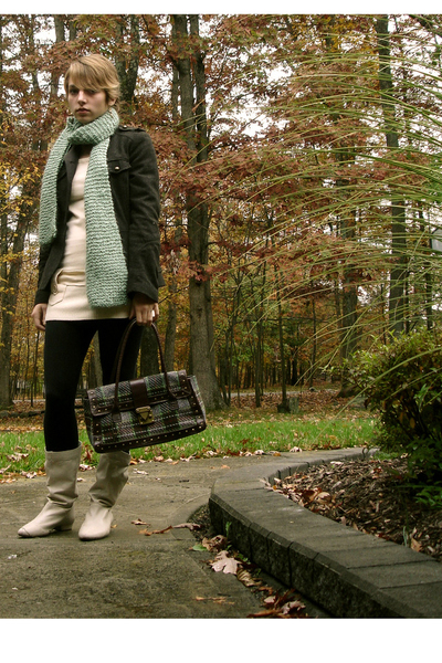 H&M jacket - forever 21 sweater - Old Navy tights - Aldo shoes - scarf - Some pl