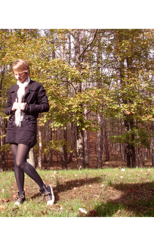 forever 21 jacket - H&M dress - Old Navy sweater - A drug store tights - Hurley