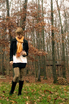 Forever21 jacket - Hanes shirt - American Apparel dress - hottopic tights