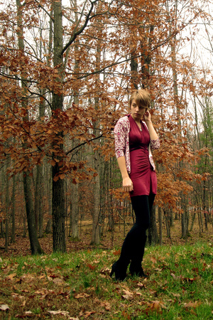 Urban Outfitters dress - delias sweater - Old Navy tights