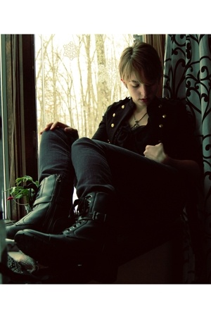 H&M jacket - Forever21 jeans - sporto boots - Old Navy top