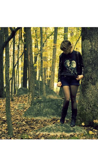 H&M jacket - H&M shorts - Aldo boots - H&M jacket