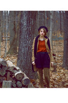 camel H&M coat - black H&M shorts - burnt orange Zara sweater - olive green antr