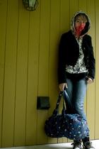 Forever21 jacket - Zumiez sweater - Charlotte Russe jeans - Parcel purse