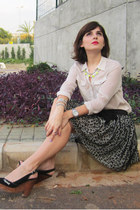 leopard print skirt - Noah bag - wood wedges REPLAY wedges