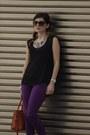 Purple-skinny-jeans-ltb-jeans-burnt-orange-noah-bag