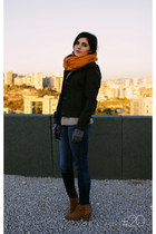 mustard infinity scarf Vero Moda scarf - tawny studded pull&bear boots