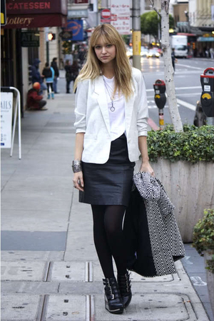 silver vintage blazer - black Jeffrey Campbell Clinic Wedges shoes