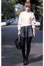 Black-zara-skirt-beige-nastygal-sweater