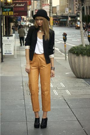 orange vintage pants