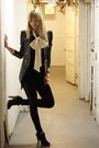 Black-nastygal-leggings-blue-modcloth-blazer-black-alexander-wang-dress