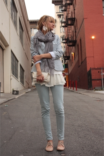 thrifted blazer - H&M shirt - Urban Outfitters jeans - vintage purse