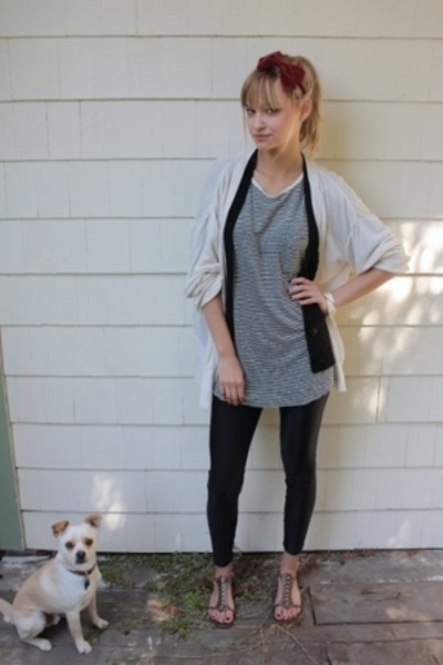 thifted accessories - Zara skirt - Urban Outfitters vest - American Apparel legg