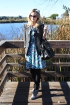 blazer - H&M dress - Urban Outfitters accessories - shoes - Betsey Johnson purse