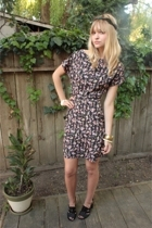 DIY accessories - Zara dress - DSW shoes - vintage accessories