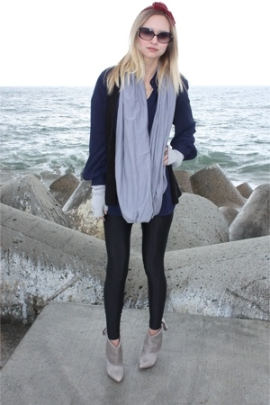 accessories - boots - American Apparel scarf - silence and noise vest - blouse -