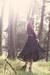 black vintage skirt - maroon American Apparel bodysuit