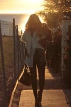 black Alexander Wang shoes - tawny nastygal jacket - beige Mint Mall shorts - wh