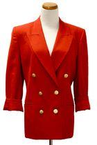 red Talbots petites blazer
