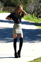 gold H&M skirt