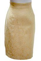 gold vintage skirt