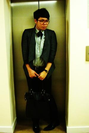 Zara blazer - asos shirt - Topman pants - asos glasses - Bertie shoes - jasper c