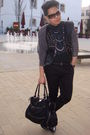 Black-vintage-jacket-black-h-m-shirt-black-topman-pants-silver-warehouse-n
