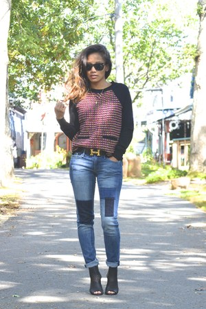 tweed Jcrew sweater