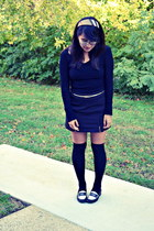 headband Burberry accessories - knee high socks American Apparel stockings