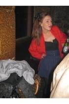 vintage jacket - H&M skirt